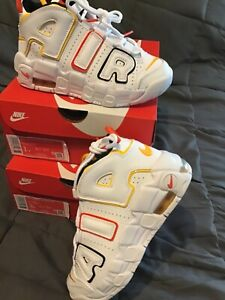 Size 3 Y NIKE AIR MORE UPTEMPO PS - WHITE DD9286 100 100% AUTHENTIC