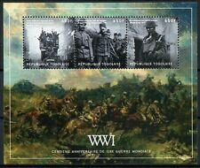 Togo 2014 MNH WWI WW1 First World War I 100th Anniv 4v M/S II Military Stamps