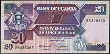Uganda 20 Shillings 1988 Pick 29b (1)