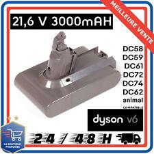 Batterie 21.6V 3000mAh Pour Aspirateur Dyson V6 DC58 DC59 DC61 DC62 DC72 DC74