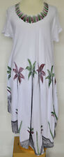 BNWT Sakkas White Tree Embroidered Short Sleeve Long Tunic Sun Dress 12 14 16 18