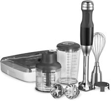 KitchenAid 5-Speed Immersion Blender Twist Lock Blending Arm Powerful Removable