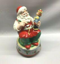 Geo Z Lefton Santa Rotating Santa Music Box Nutcracker 1995