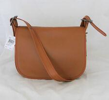 COACH 1941 Saddle Brown Glovetanned Leather Flap Crossbody Purse Bag-55298-NEW