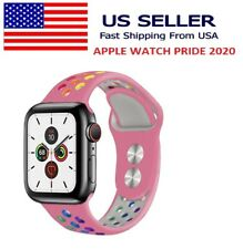 Silicone Sport Apple Watch Pride 2020 Band Pink Rainbow Series 5 4 3 2 1