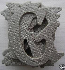 """Bazzill Bling ~GRAY~ Shimmer Alphabet Chipboard Letters 1.5"""""""
