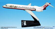 Twa trans world airlines boeing 717-200 1:200 b717 avión modelo nuevo