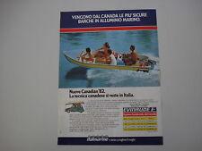 advertising Pubblicità 1982 BARCHE ITALMARINE CANADIAN