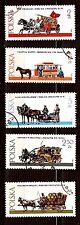 58T2 PPOLOGNE : Les deplacement pour les metiers d'antan . 5 timbres obliteres