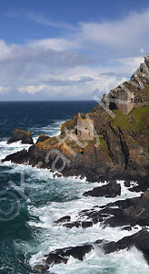 Poldark The Crowns Engine Houses Botallack Cornwall Photo Canvas 12x22 inch (UK)