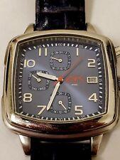 Anne Klein AK Navy Blue Day Date DOW 24-HR Red White Blue Square Men's Watch