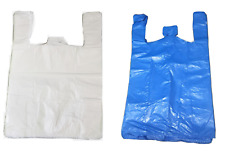 More details for 85 plastic vest carrier bags blue or white all sizes supermarkets