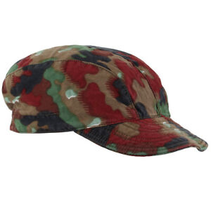 Original Swiss M83 Camo Field Cap - Alpenflage Switzerland Army Camouflage Hat