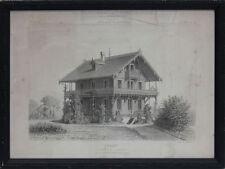 Chalet bei Strasbourg Radierung 1872