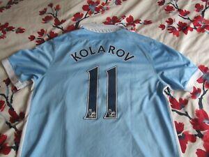 Kolarov #11 Manchester City Home Shirt 2015-16 large *read description*