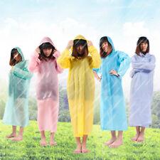 Einmaliger Transpartent Regenmantel Regencape Regenkleidung Knöpfen Regenschutz