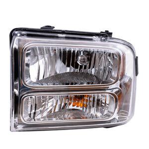 Halogen Headlight Driver Headlamp Chrome Bezel fits 05-07 Ford Super Duty Pickup