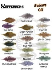 Geecrack Bellows Gill JDM Soft Plastic Baits SAF Material - Choose Size / Color