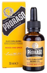 Wood & Spice Beard Oil Proraso Spices for Long & Thick Beard 30ml Italy