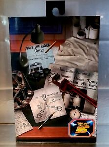 """NECA Back To The Future Doc Brown 7"""" Action Figure Ultimate Deluxe Collection"""