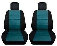 Fits 2013-2018 ISUZU MU-X  front set car seat covers black and teal