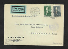 FINLAND GERMAN CENSORED 1942  WORLD WAR 2 AIRMAIL COVER to GERMANY --SCARCE