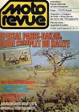 B5- Moto Revue N°2539 Spécial Paris-Dakar,Randy Mamola ,essai 175 PE Suzuki