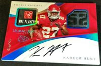 PLATINUM 1/1 RC AUTO KAREEM HUNT 2017 Immaculate SSP ROOKIE 2X LAUNDRY TAG PATCH