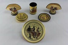 Greek Traditional Hand-Crafted Earthenware ceramic set with mythologic scenes
