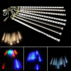 30/50cm LED Light Strip Meteor Shower Rain Falling Xmas Tree Party Garden Decor