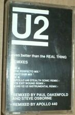 More details for u2 - even better than the real thing remixes cassette tape