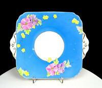 "FOLEY CHINA ENGLAND #V1772 E BRAIN AND COMPANY BEGONIA BLUE 9 3/4"" CAKE PLATE"