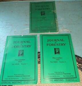 Antique 1931 Lot of 3 JOURNAL OF FORESTRY BY SOCIETY AMERICAN FORESTERS