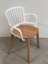 BRAND NEW CONTEMPORARY DESIGNER WOOD WHITE FRAME OFFICE HOME CHAIR (965)