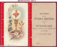 1995 SANTINO HOLY CARD SS. SACRAMENTO EUCARESTIA RICORDO PRIMA MESSA