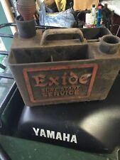 VINTAGE Antique EXIDE Sure Start Car Battery Gas STATION GARAGE SERVICE Tool Box