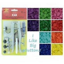 250 Rainbow Spectrum Starter Pack Kit/Pliers Kam Snap/Plastic Snaps/Cloth Diaper