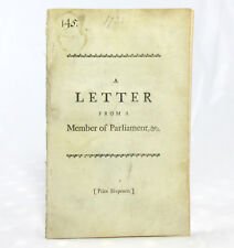 TOBACCO EXCISE BILL Letter from a Member of Parliament for a Borough in the West