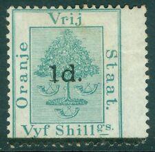 ORANGE RIVER COLONY : 1881. Stanley Gibbons #23 VF, Mint OG HR. Catalog £275.00.