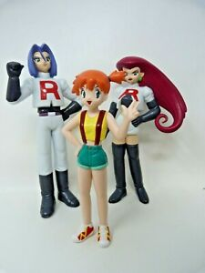 Vintage Tomy 1998 Team Rocket Figures - Jessie James and Misty