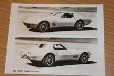 Corvette Stingray Sport Coupe 1969 Black & White Press Photograph
