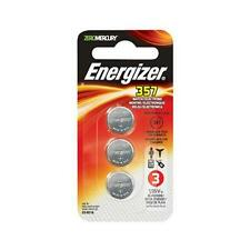 15 Energizer 357 Watch/Electronic Batteries- 5 packs of 3 = 15 EA batteries