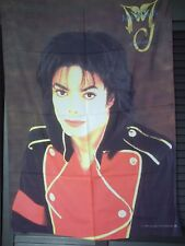 MICHAEL JACKSON - DRAPEAU MJ HISTORY FLAG 1996 TRIUMPH INTERNATIONAL - LIKE NEW
