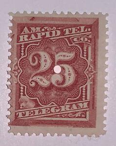 Travelstamps: 1881 Scott 1T7 US Revenue Stamp  25c American Rapid Telegraph Co