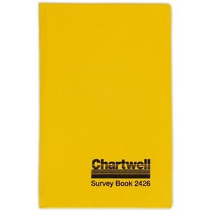 192 x 120mm Chartwell Collimation Level Survey Book 2426 Civil Engineers
