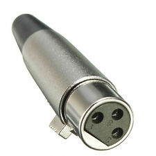 XLR 3pin Jack Female-Adapters for Speaker Microphone 18AWG Cable Silver