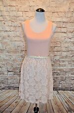 Modcloth Georgetown Jaunt Dress NWOT M Knit and lace Gilli pink belted comfy!!!