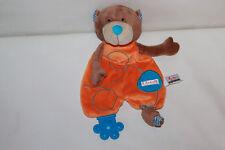 Sigikid Teddy Bär braun orange Schmusetuch Kuscheltuch Schnuffeltuch 30cm TOP