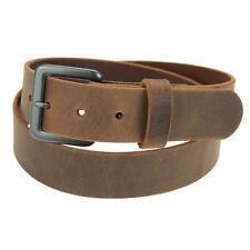 "Genuine Buffalo Hide Leather Belt_1 1/4""_Amish Handmade_Gun Metal Finish Buckle"