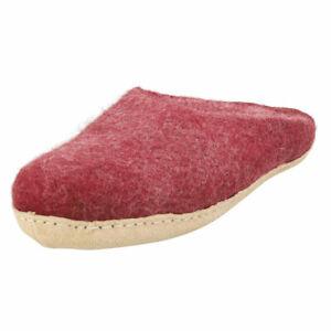 egos copenhagen Slipper Bordeaux Unisex Burgundy Slippers Shoes - 10 US